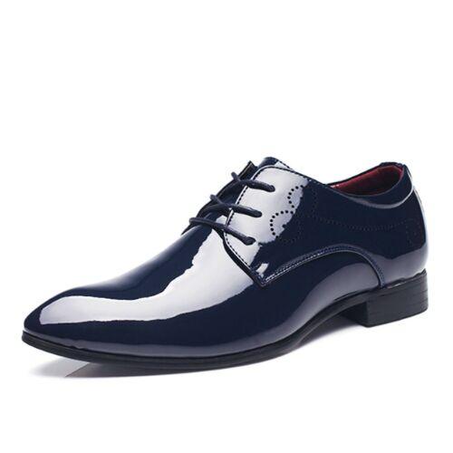 Details about  /mens Shoes evening Business Faux Leather formal dance Patent Brogues US 6-12.5
