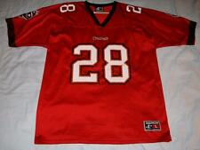 Warrick Dunn 28 Tampa Bay Buccaneers Red Logo Athletic NFL Jersey Adult Large