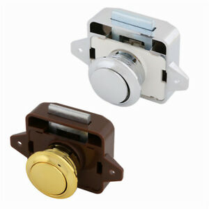 Details about Push Button Catch Lock Drawer Cupboard Door Motorhome Caravan  Cabinet Latch Knob