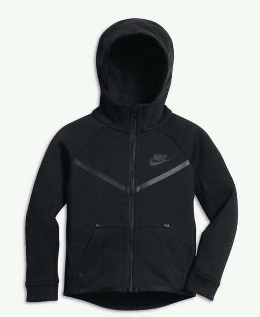 NIKE TECH FLEECE FULL ZIP BIG KIDS HOODIE (86B202 023) SZ: 7 RETAIL $85.00