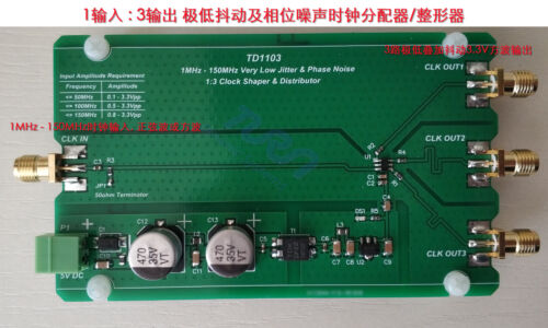 SHAPER Sine wave to Square Wave LOW JITTER /& PHASE NOISE CLOCK DISTRIBUTOR