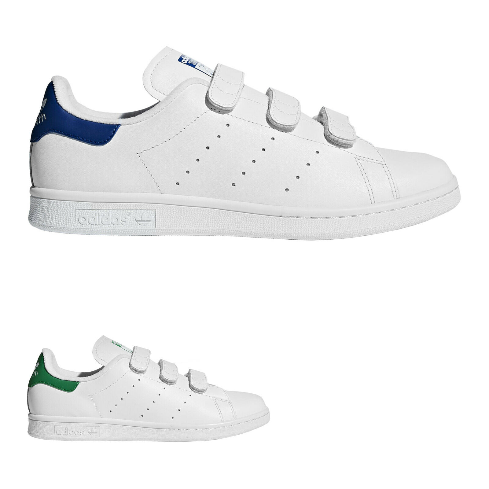 53abe61c4 Adidas Stan Smith CF Leather Leather Leather Classic Hook-And-Loop Mens  Trainers e492be