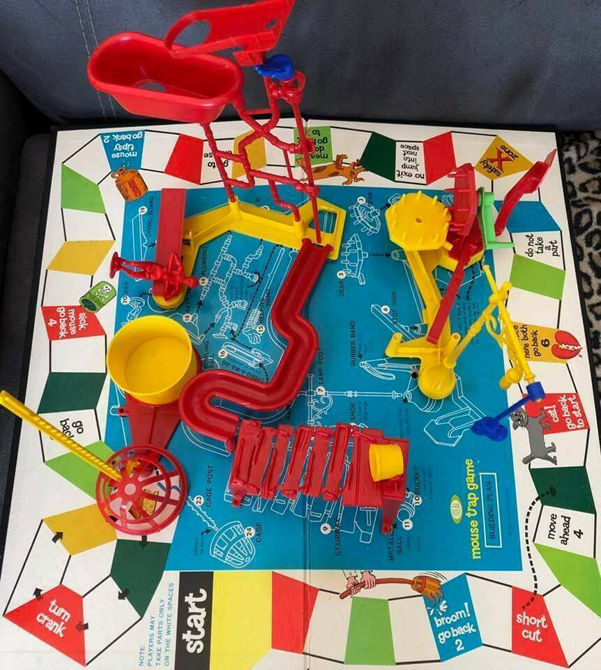 Vintage Original MOUSE TRAP Game Missing A few Parts Not Many 1963 Ideal