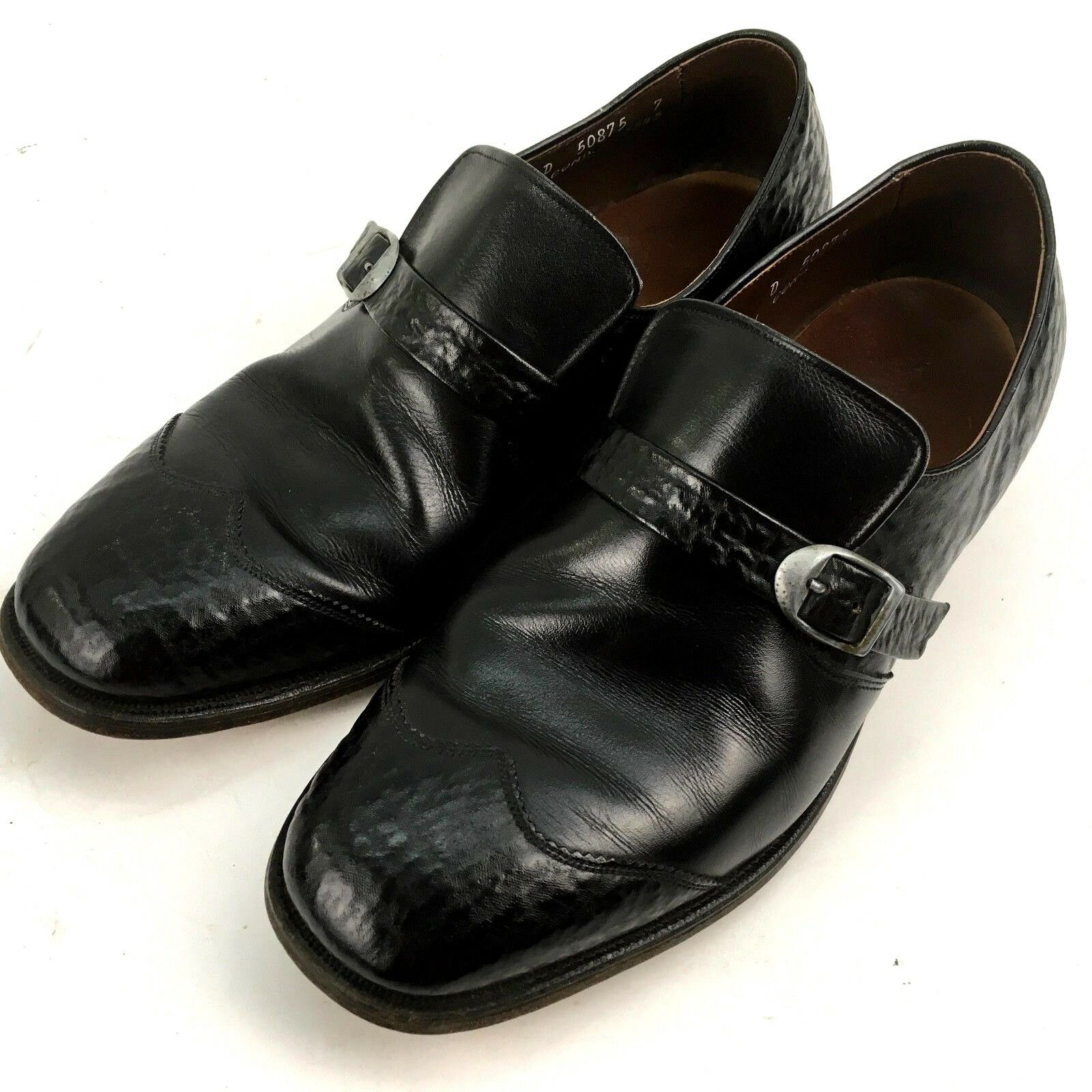 Allen Edmonds Mens Loafer Buckle shoes 9 D Black Ostendo Capri Cushioned Heel