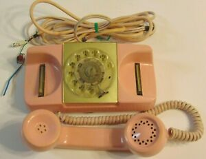 Vintage-1960s-Type-182-Monophone-Automatic-Electric-Pink-Rotary-Dial-Phone-Retro