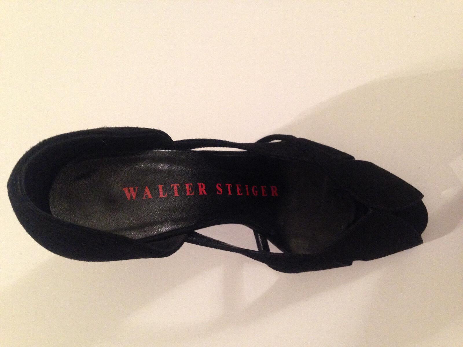 Walter Größe Steiger, Wunderschöne Peep Toe's, Wildleder, Schwarz, Größe Walter 36,5, TOP f3cfc4
