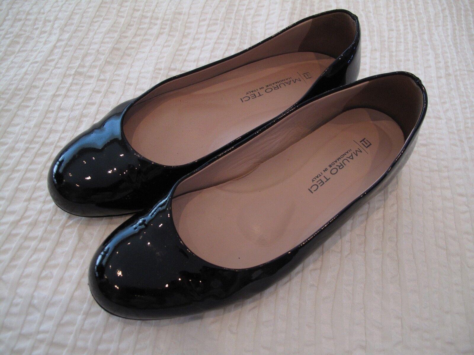 Original Mauro Teci Damen Schuhe Ballerinas Leder Lack schwarz Neuwertig Gr 38 Neuwertig schwarz 6b014b