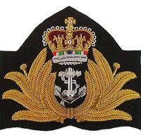 Genuine Royal Australian Navy Officer Gold Bullion Peak Cap Hat Badge