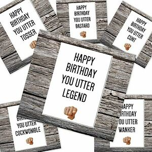 Image Is Loading Funny Rude Happy Birthday Card Can Be You