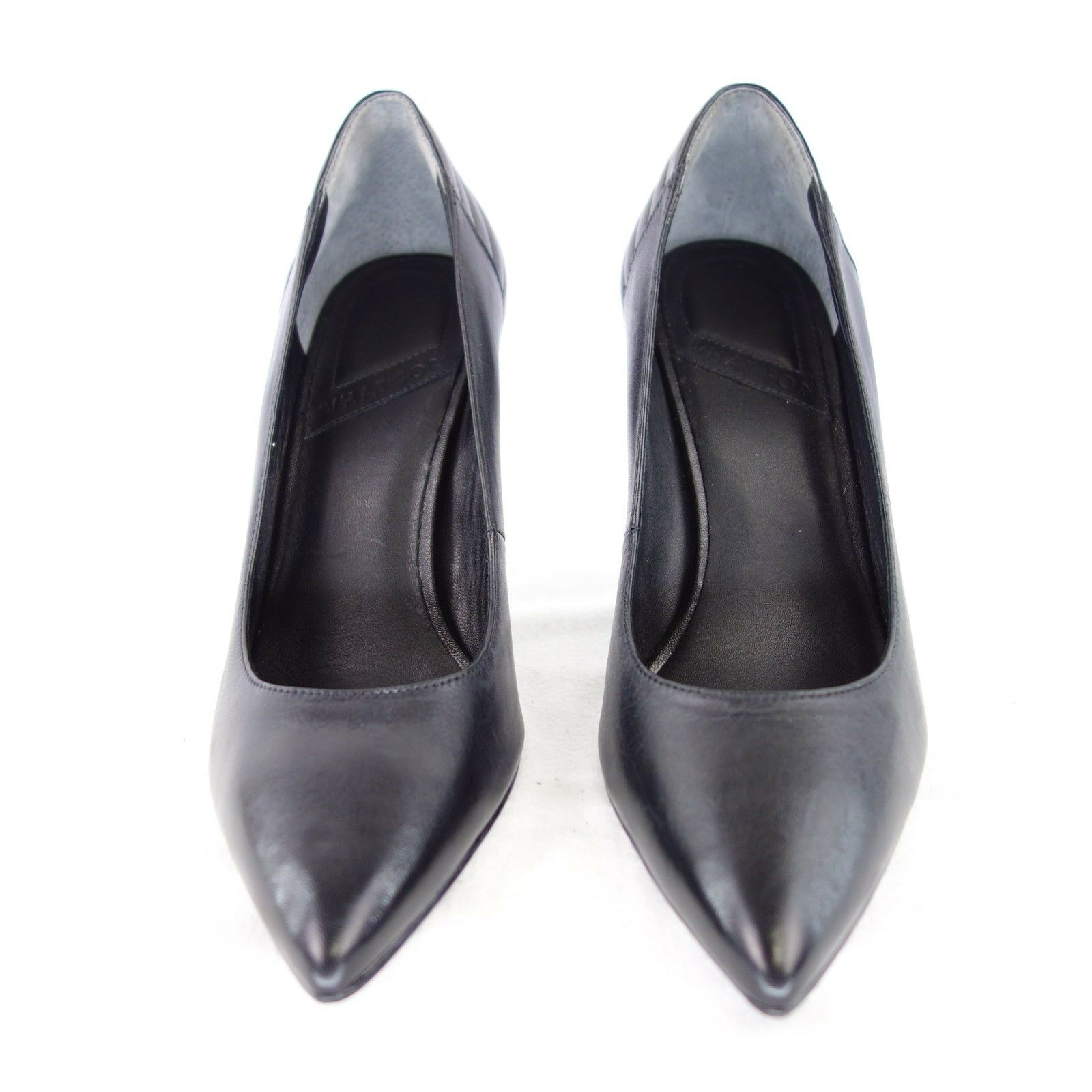 WHAT WHAT WHAT FOR Damen Schuhe Pumps Gr 37 40 Schwarz Leder Stiletto Spitz NP 129 NEU 664259