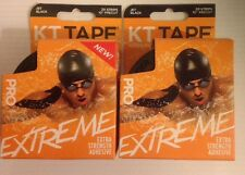 2 -KT Tape Pro Extreme Kinesiology Therapeutic Body Tape Roll of 20 Strips Black