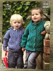 King Cole Aran Knitting Pattern 3469 Union Jack Jacket /& Sweater