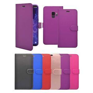 pour-Samsung-Galaxy-S9-Portefeuille-Flip-en-DIVERS-COULEURS-ETUI-COQUE