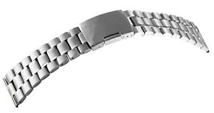 Edelstahl-Gliederband-Uhrenband-Silber-26-mm-Faltschliesse-Ersatzband-X8100070260