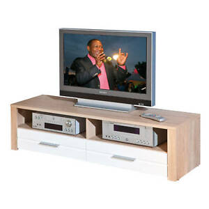Table-TV-banc-television-armoire-basse-meuble-support-tele-Sonoma-Chene