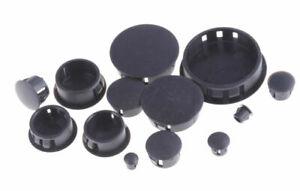 90 Piece Flush Mount Black Hole Plug Assortment for Auto Body and Sheet Metal