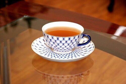Lomonosov Ornament Tea or Coffee Cup Russian Saint Petersburg Cobalt Blue Net