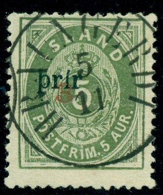 Island #31a 3prir ,p.14x13 ½,gebraucht Hraungerdi Cxl Pollak Zertifikat Große