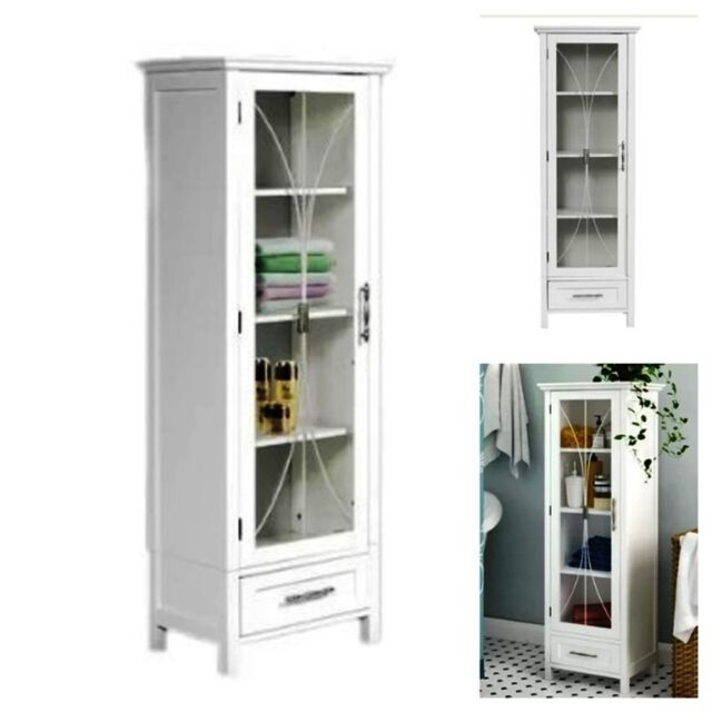 Frequently Bought Together Bathroom Storage Cabinet Floor Standing Linen Tower Cupboard Pantry