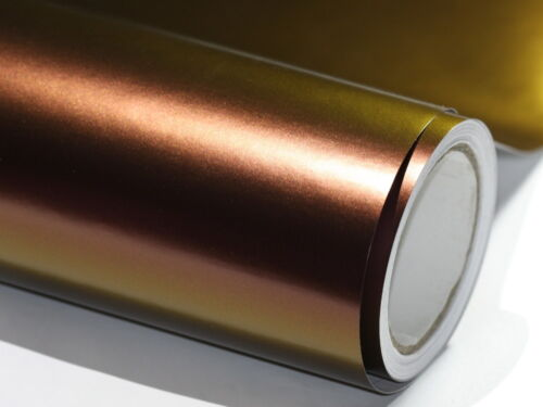 Chameleon Lila wird zu Gold 100cm x 152cm mit Luftkanäle Autofolie Flip Flop