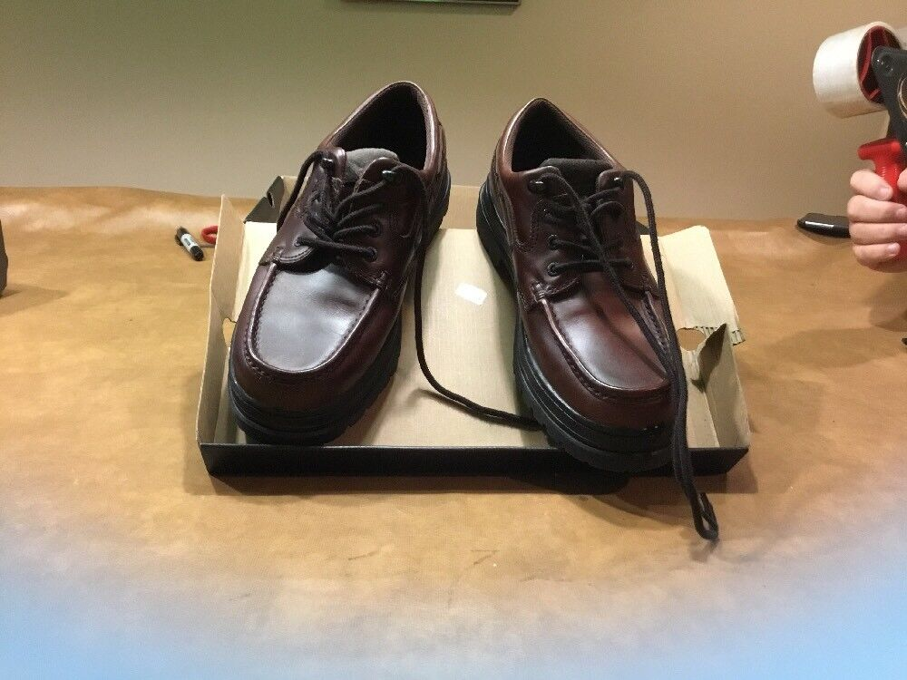 New Mens Dockers Leather Upper Casual Shoes - brown - - brown 090-4167 size 11M 197675