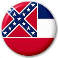 Small 25mm Lapel Pin Button Badge Novelty Mississippi Flag