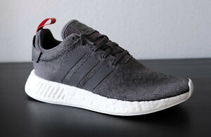 reputable site 6bf48 12e6b Details about Adidas Size 9 NMD R2 BY3014 Grey Future Harvest Running Shoe