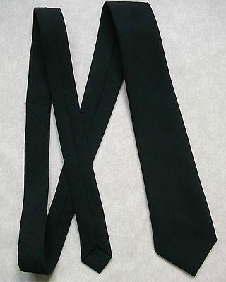 Cravatta Da Uomo Cravatta Vintage Con Nuovo Plain Nero Scuola College-mostra Il Titolo Originale