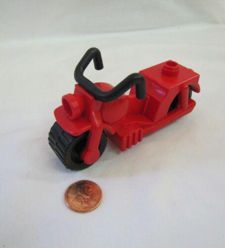 Vintage Lego Duplo RED MOTORCYCLE Motorbike Legoville City Harley Motor Cycle