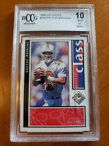 1998-UD-Choice-Peyton-Manning-MINT-BCCG-10-ROOKIE-Indianapolis-Colts-not-PSA