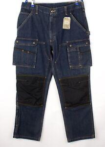 Carhartt-Herren-EB229-480-Slim-Gerades-Bein-Jeans-Groesse-W38-L32-AVZ460