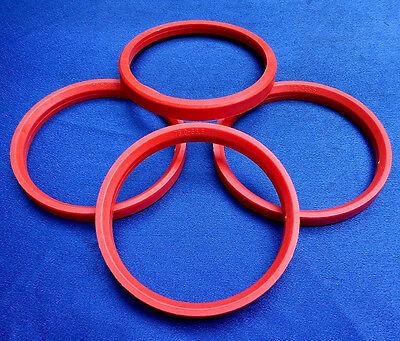 (t28-sl666p) 4x Anelli Di Centraggio 76,0/66,6 Mm Arancione Per Cerchi In Lega-