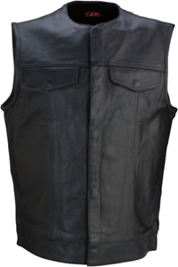 Z1R Motorcycle Vest Black Leather 338 Large (2830-0356)