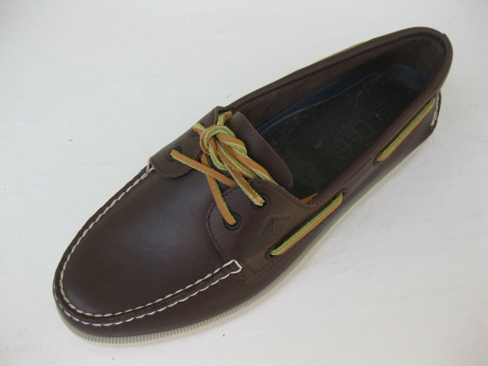 Sperry Topsider Mens shoes NEW  0195115 A O 2 Eye Dark Brown Boat 13 M