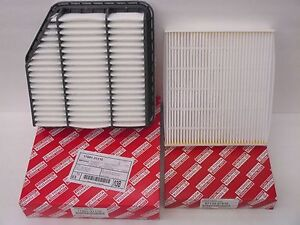 Lexus oem factory cabin filter and air filter set 2006 for Lexus is250 cabin air filter