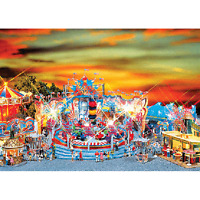 Faller 140461 Ho Scale Carnival Rides W/2 Ticket Booths Building Kit on Sale