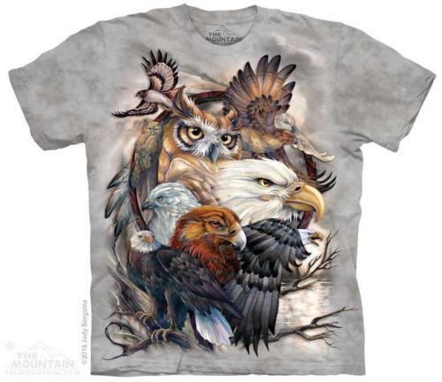 Eagle Hawk Owl Pheasant Turkey Birds T Shirt The Mountain Sky Kings Tee S-4XL 5X