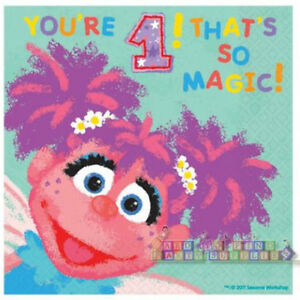 Details About Sesame Street Abby Cadabby 1st Birthday Lunch Napkins 36 Party Supplies