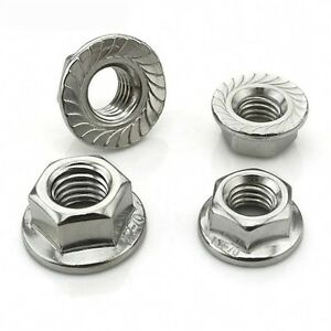 304-Stainless-Left-Hand-Thread-Serrated-Flange-Nuts-Hex-Lock-Nut-M5-M6-M10-M12