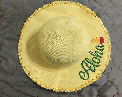 Pineapples floppy hat pineapple straw floppy hat fruity floppy hat beach sun hat Floppy beach hat topical straw floppy hat