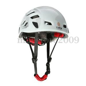 Safety-Rock-Climbing-Downhill-Caving-Rappelling-Rescue-Helmet-Protector-White