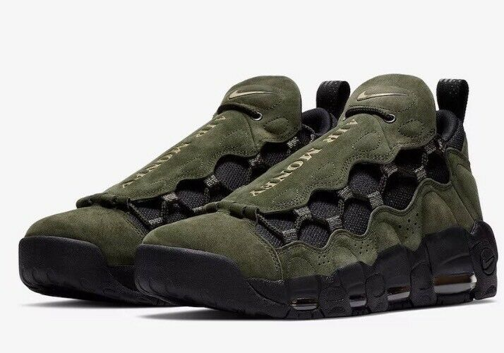 Nike Air More Money QS US Dollar Homme AJ7383-2018 Sequoia Doré Chaussures