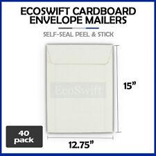 40 1275 X 15 Self Seal White Photo Ship Flats Cardboard Envelope Mailers