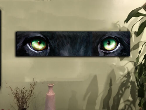 Wall Decor Stunning Black Panther Eyes canvas art 10x46  EXCLUSIVE
