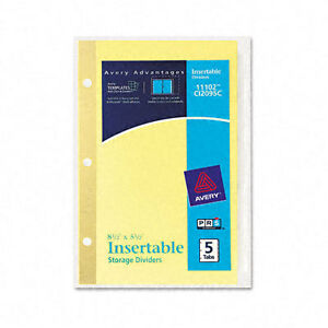 WorkSaver Insertable Tab Index Dividers AVE11102