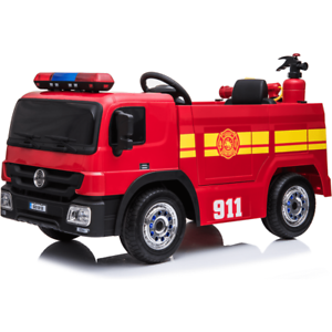 12V-Children-s-Battery-Operated-Electric-Ride-On-Fire-Engine-with-Accessories