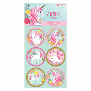 Unicorn-Stickers-24pk-Favour-Loot-Bag-Lolly-Craft-Birthday-Party-Supplies