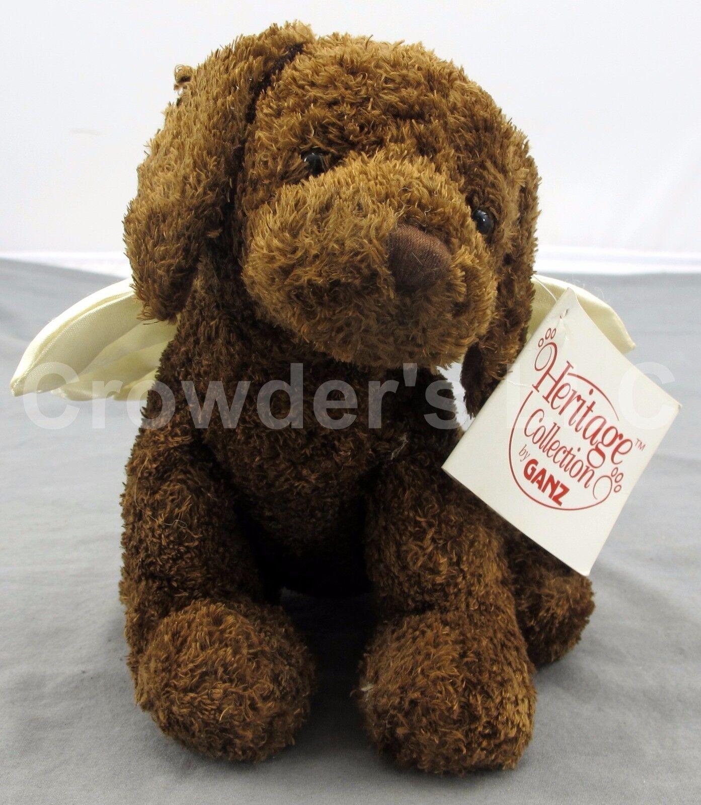 RARE Vintage Heritage Collection by Ganz Soft Spot Angel 2001 Stuffed Braun Dog