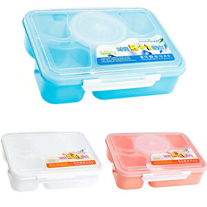 42c7d9fb105a Details about Microwave Bento Lunch Box + Spoon Utensils Picnic Food  Container Storage Box Pop