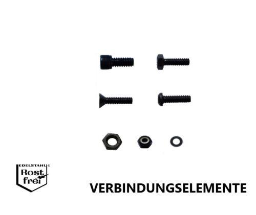 Schwarze UNC No.6-32  Zollschrauben Zollmuttern Scheiben EDELSTAHL A2 SCHWARZ